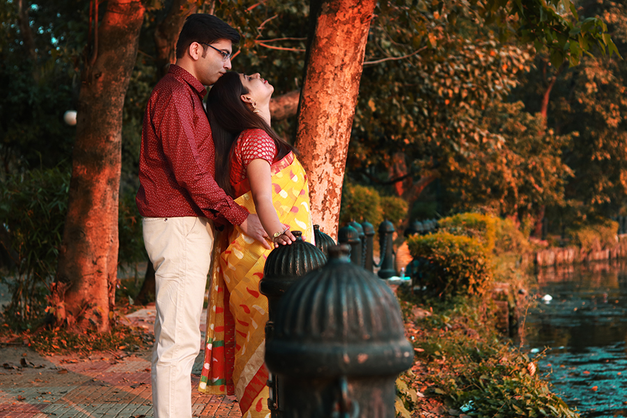 Candid Wedding Photography of A Bengali Couple